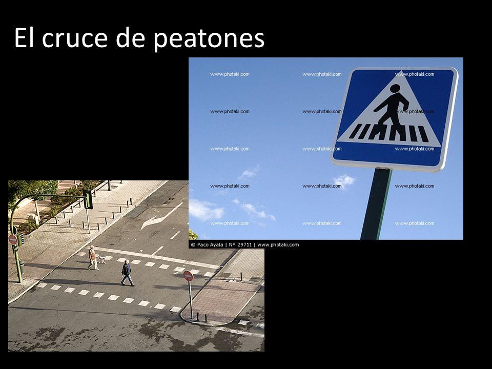 El cruce de peatones