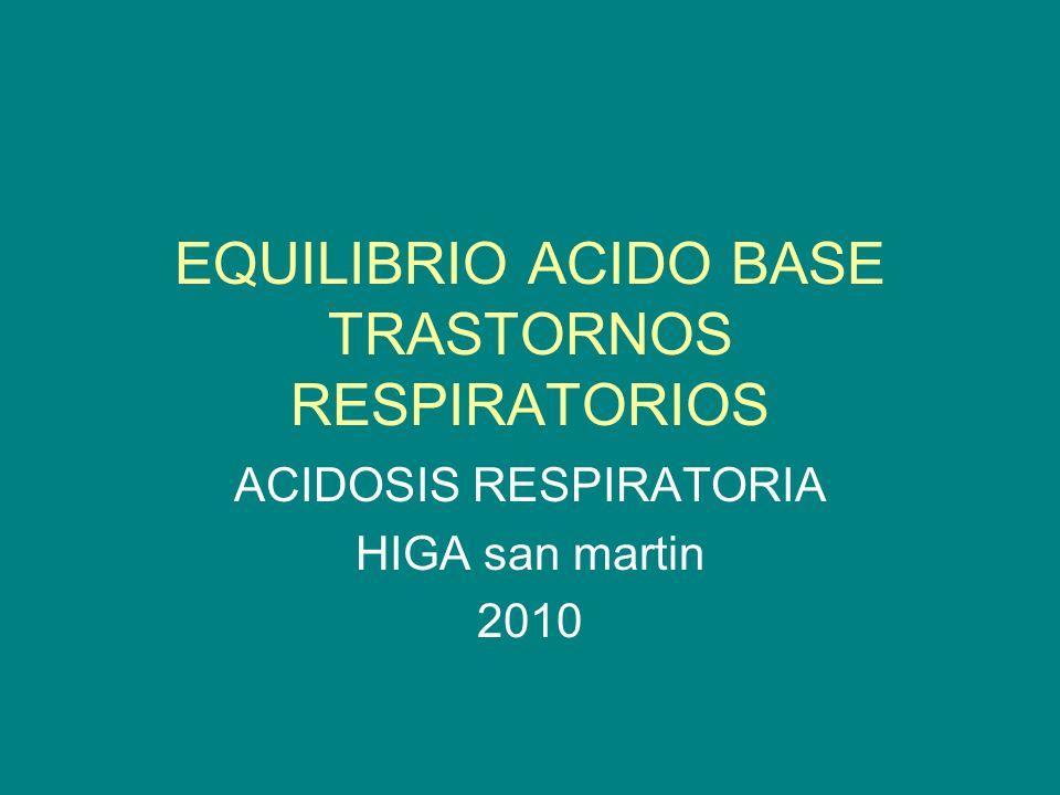 EQUILIBRIO ACIDO BASE TRASTORNOS RESPIRATORIOS