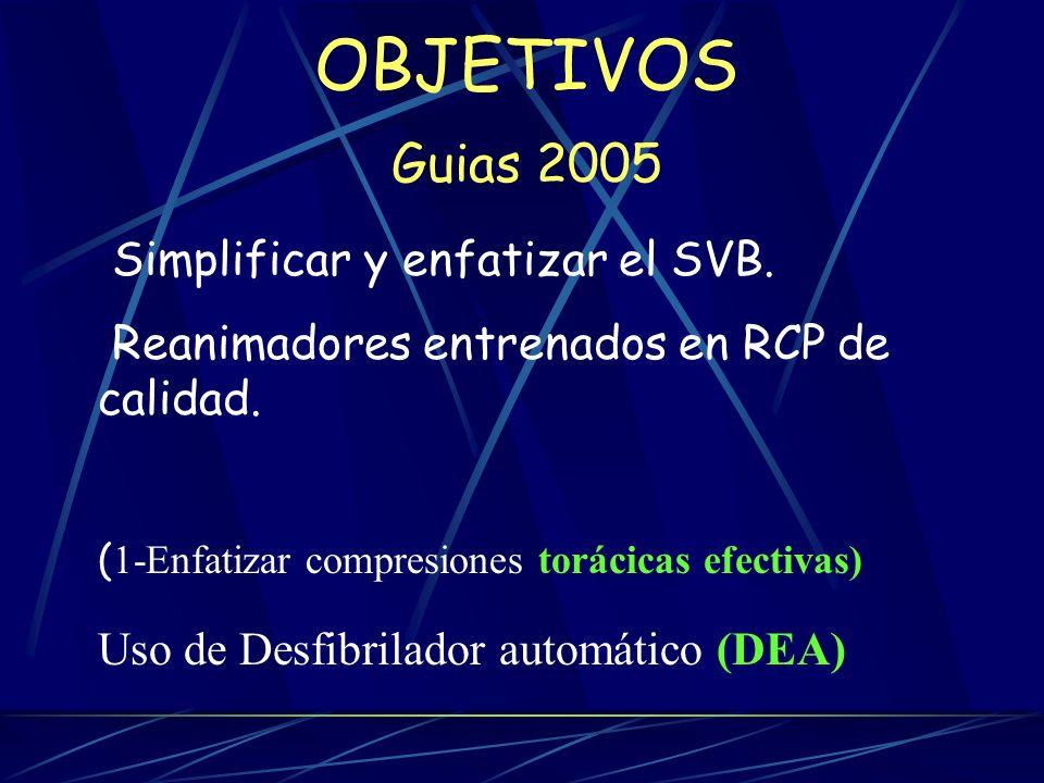 OBJETIVOS Guias 2005 Simplificar y enfatizar el SVB.