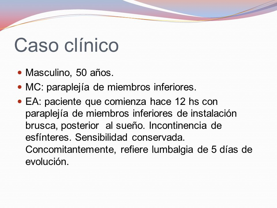 Caso clínico Masculino, 50 años.