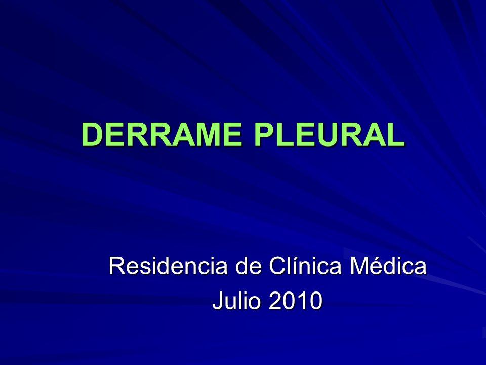 Residencia de Clínica Médica Julio 2010