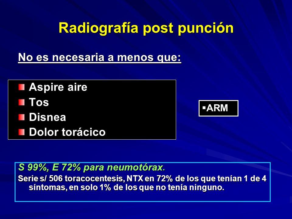 Radiografía post punción