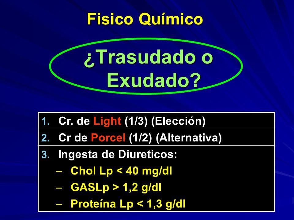 ¿Trasudado o Exudado Fisico Químico Cr. de Light (1/3) (Elección)