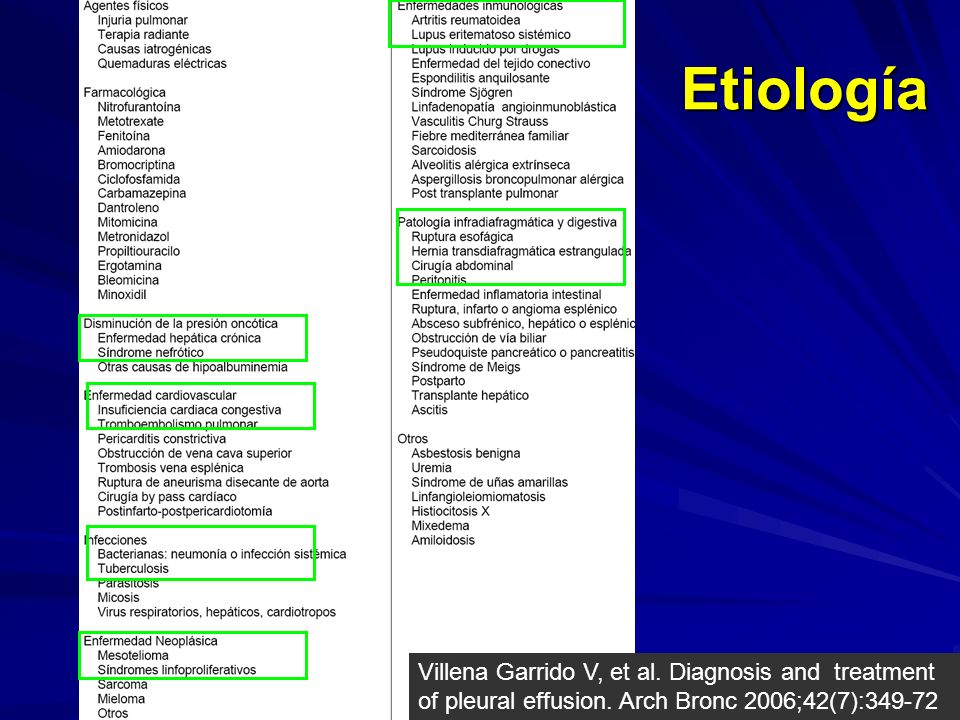Etiología Villena Garrido V, et al. Diagnosis and treatment