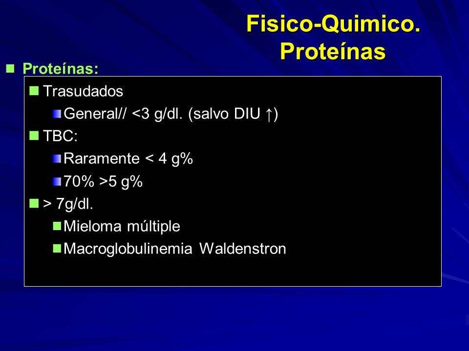 Fisico-Quimico. Proteínas