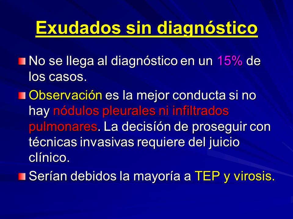 Exudados sin diagnóstico