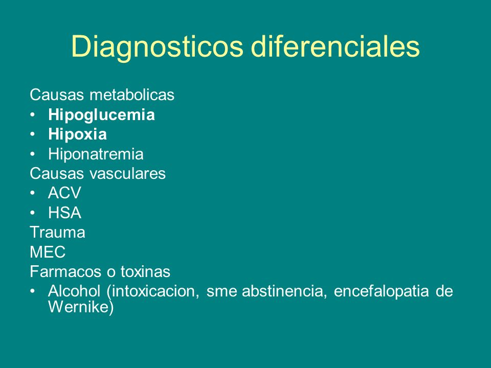 Diagnosticos diferenciales