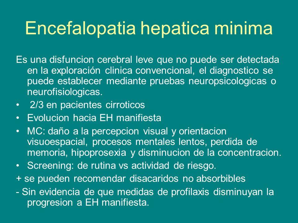Encefalopatia hepatica minima