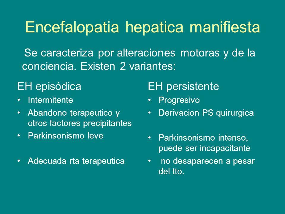Encefalopatia hepatica manifiesta