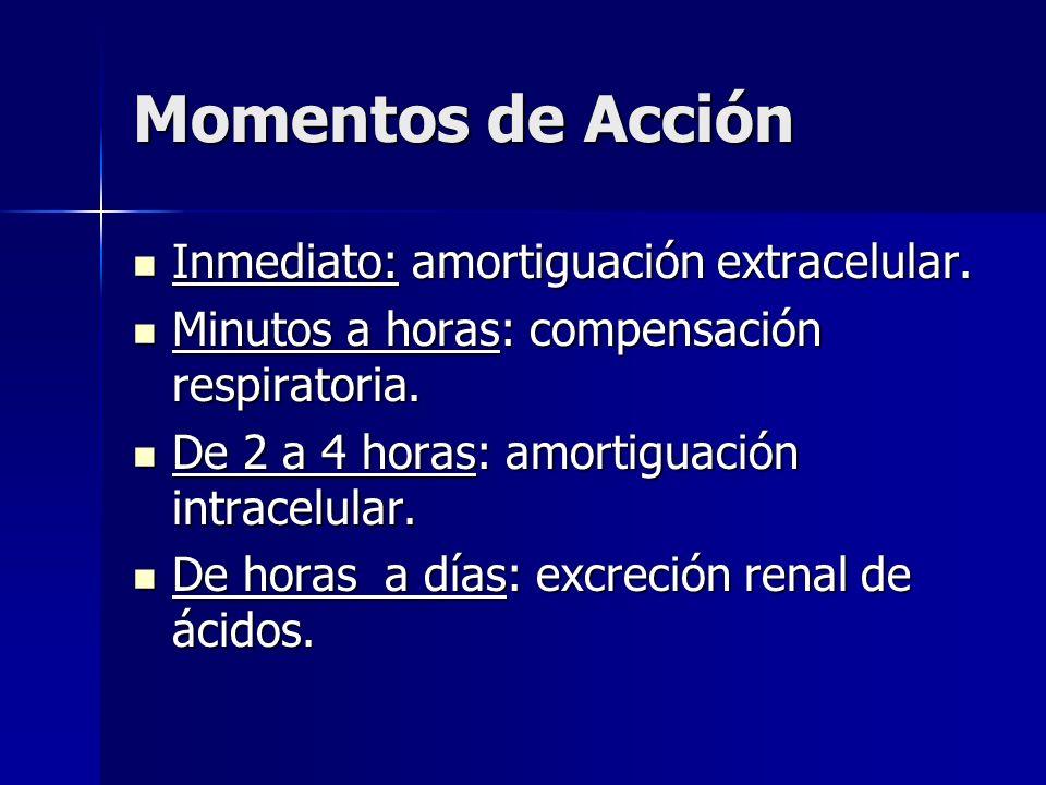 Momentos de Acción Inmediato: amortiguación extracelular.