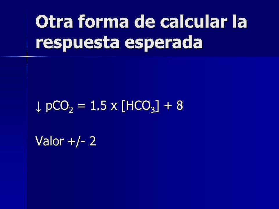 Otra forma de calcular la respuesta esperada