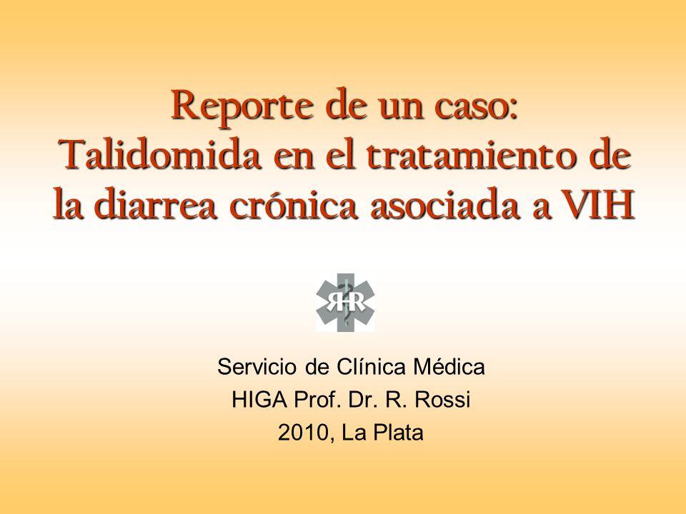 Servicio de Clínica Médica HIGA Prof. Dr. R. Rossi 2010, La Plata