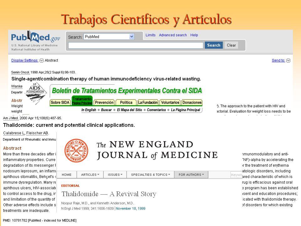 Trabajos Científicos y Artículos
