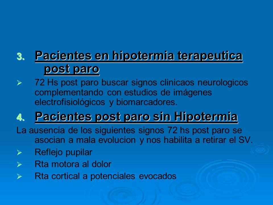 Pacientes en hipotermia terapeutica post paro