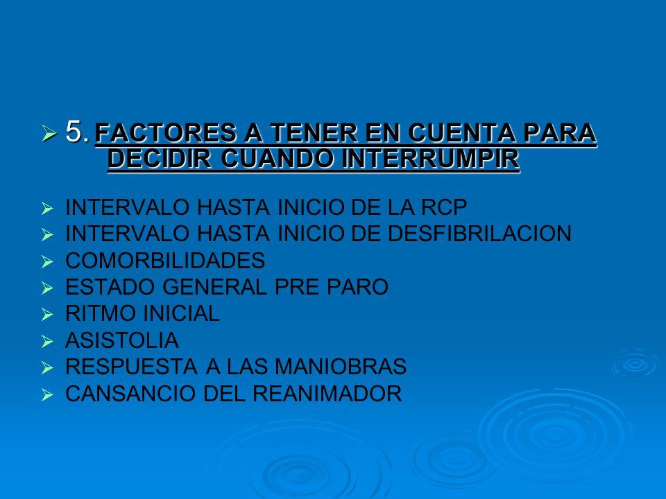 5. FACTORES A TENER EN CUENTA PARA DECIDIR CUANDO INTERRUMPIR