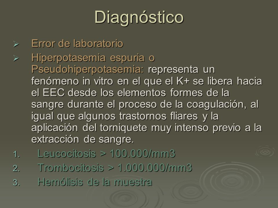 Diagnóstico Error de laboratorio