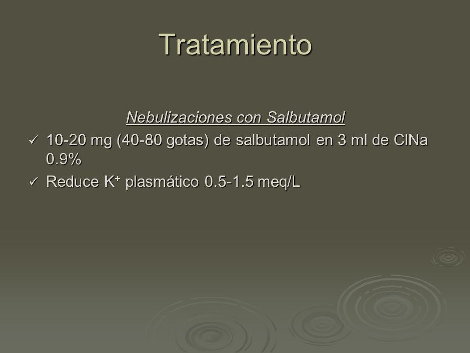 Nebulizaciones con Salbutamol