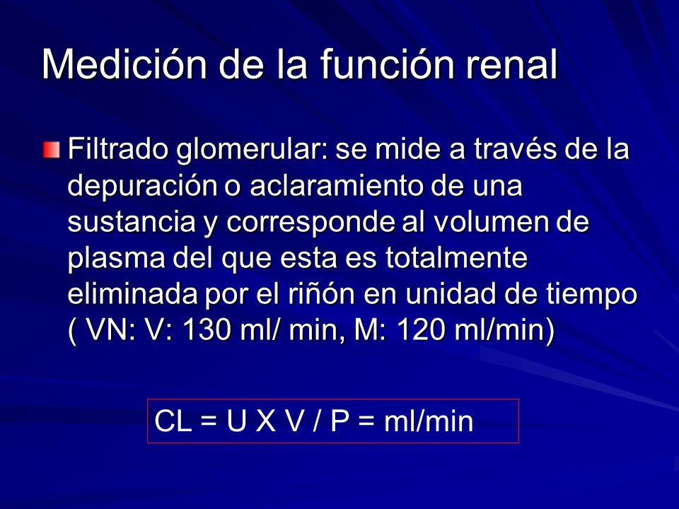 Medición de la función renal