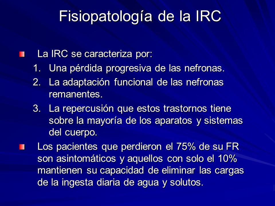 Fisiopatología de la IRC