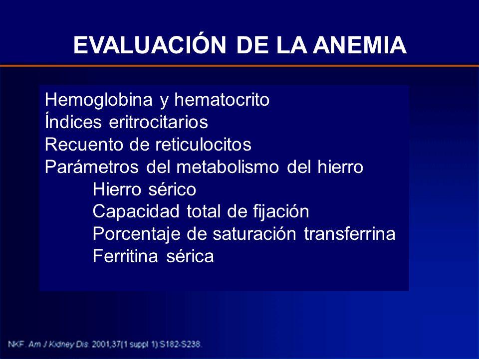 EVALUACIÓN DE LA ANEMIA