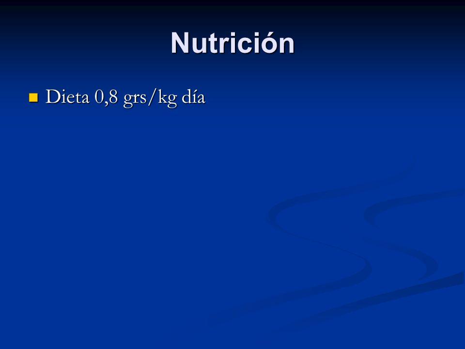 Nutrición Dieta 0,8 grs/kg día