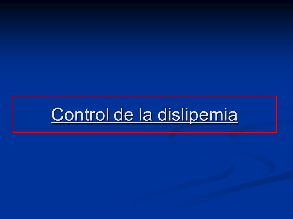 Control de la dislipemia