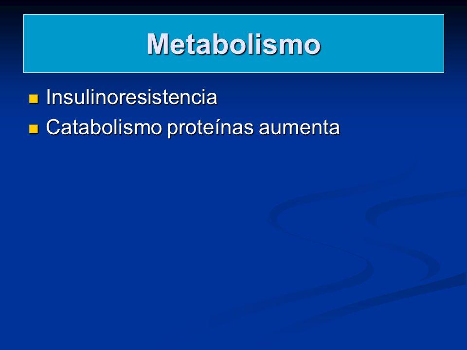 Metabolismo Insulinoresistencia Catabolismo proteínas aumenta