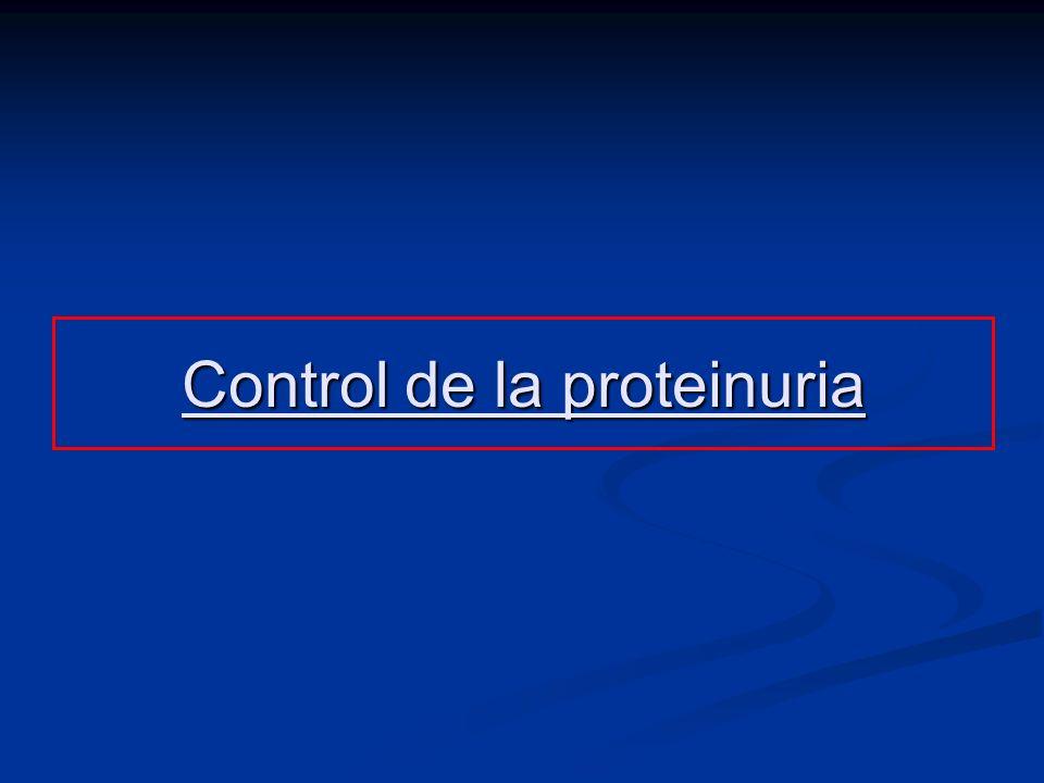 Control de la proteinuria