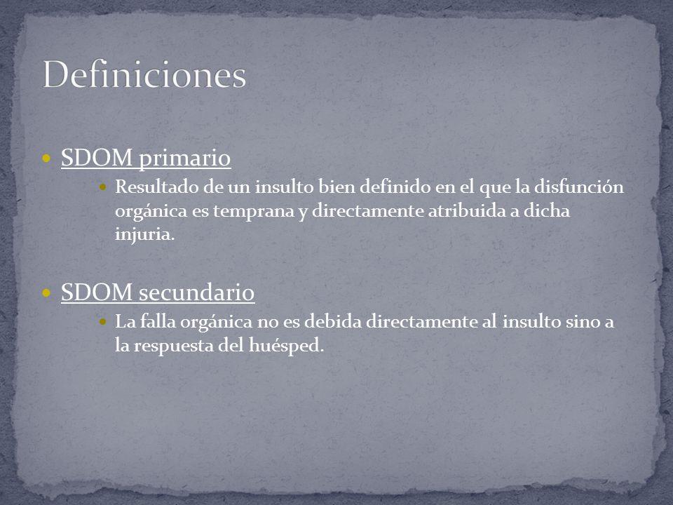 Definiciones SDOM primario SDOM secundario