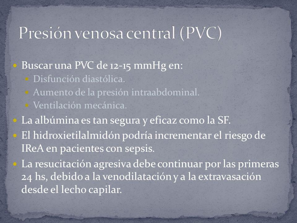 Presión venosa central (PVC)