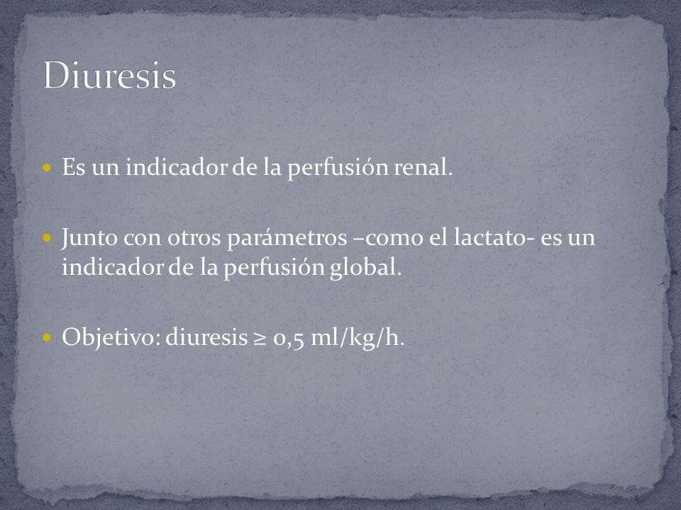 Diuresis Es un indicador de la perfusión renal.