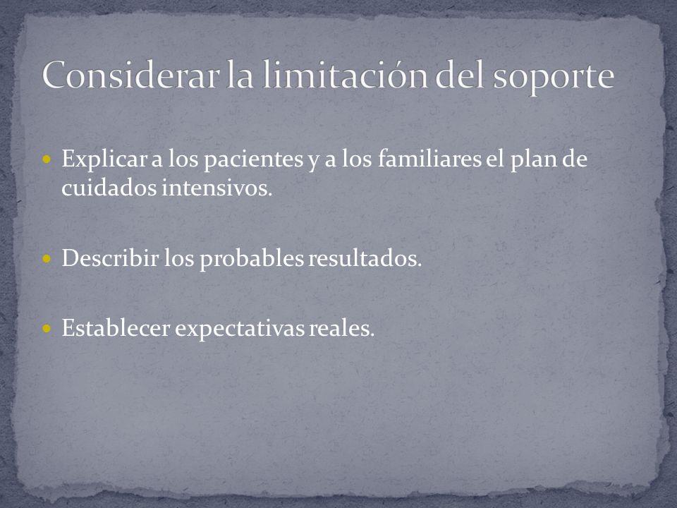 Considerar la limitación del soporte