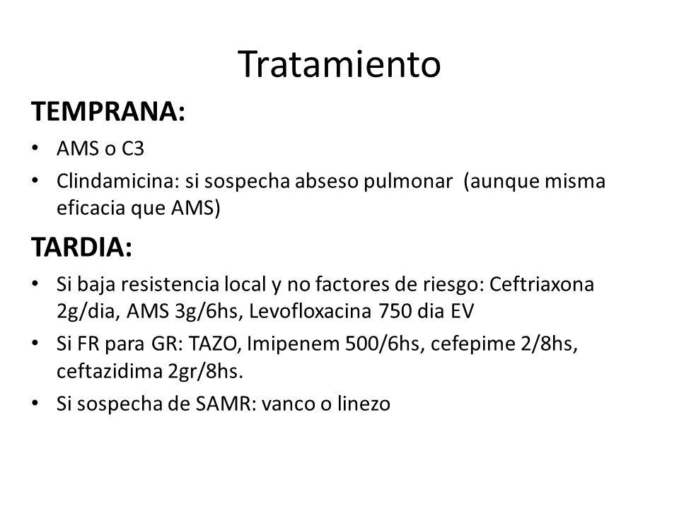 Tratamiento TEMPRANA: TARDIA: AMS o C3