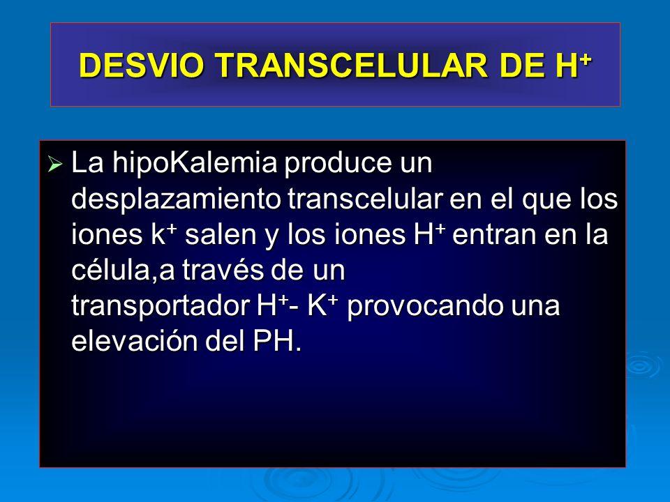 DESVIO TRANSCELULAR DE H+