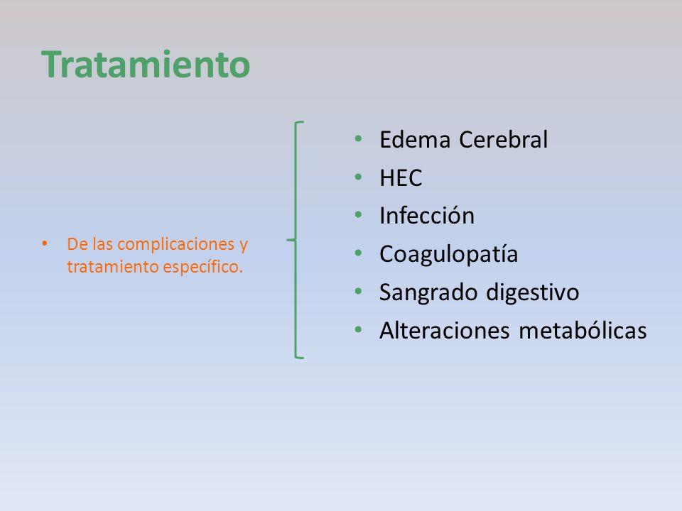 Tratamiento Edema Cerebral HEC Infección Coagulopatía