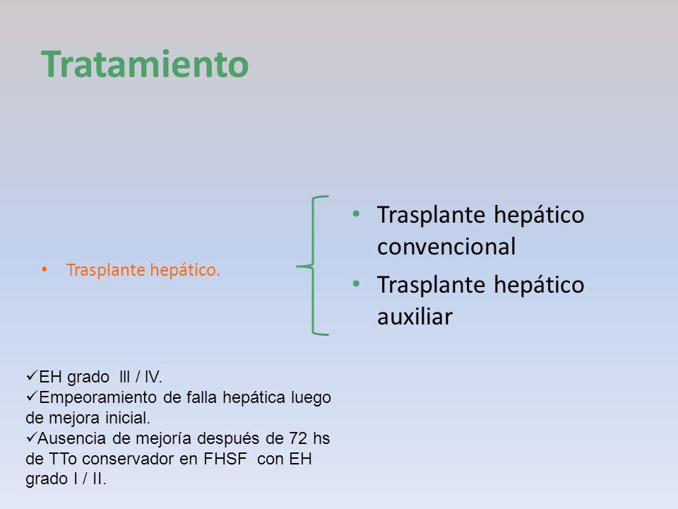 Tratamiento Trasplante hepático convencional