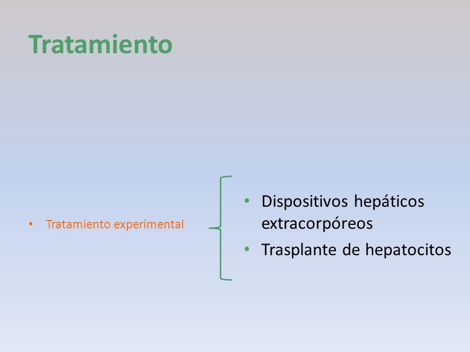 Tratamiento Dispositivos hepáticos extracorpóreos