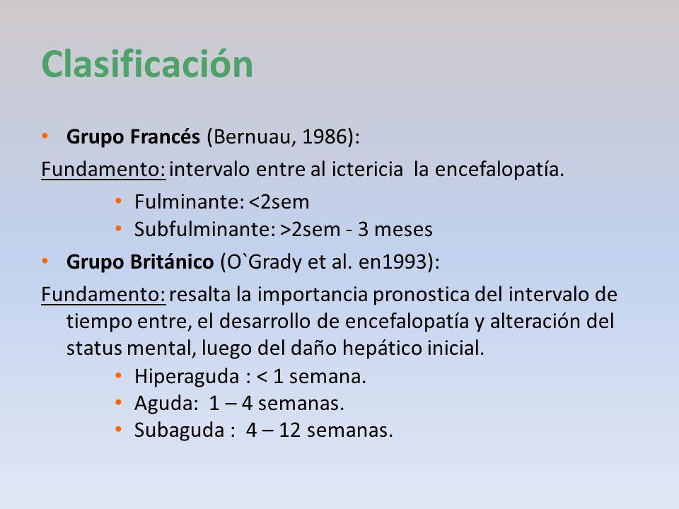 Clasificación Grupo Francés (Bernuau, 1986):