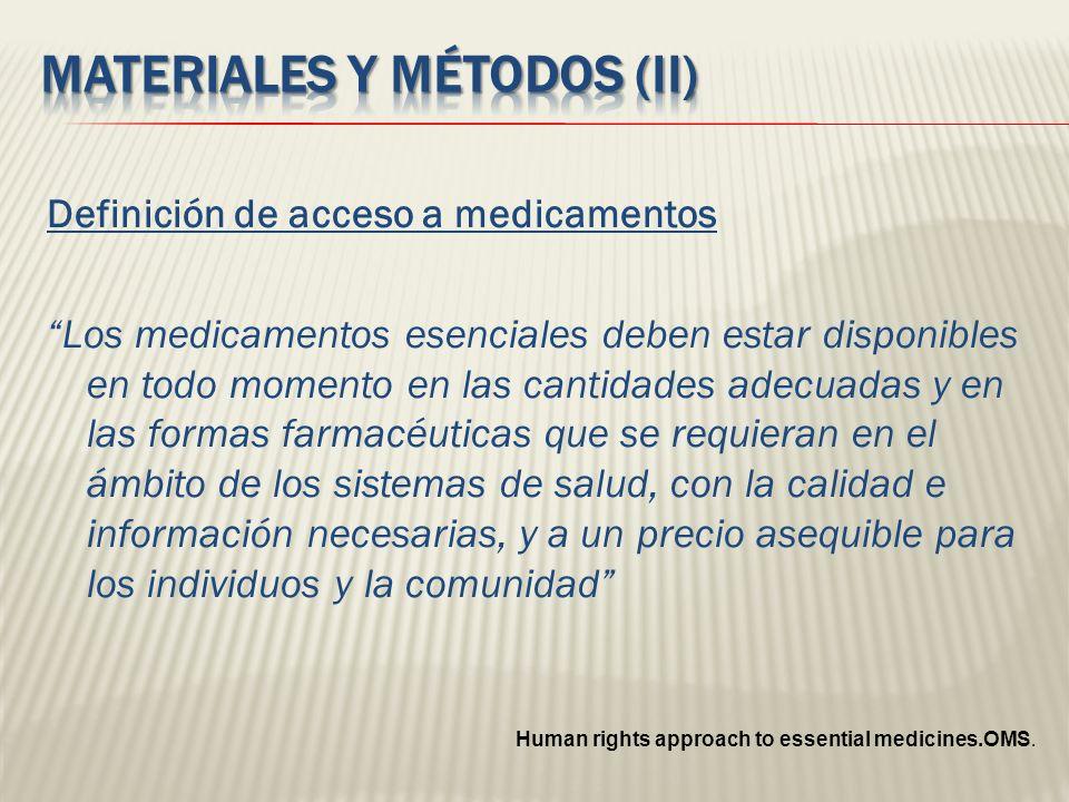 Materiales y métodos (II)
