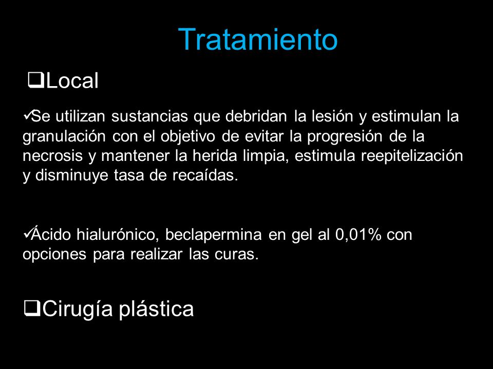 Tratamiento Local Cirugía plástica