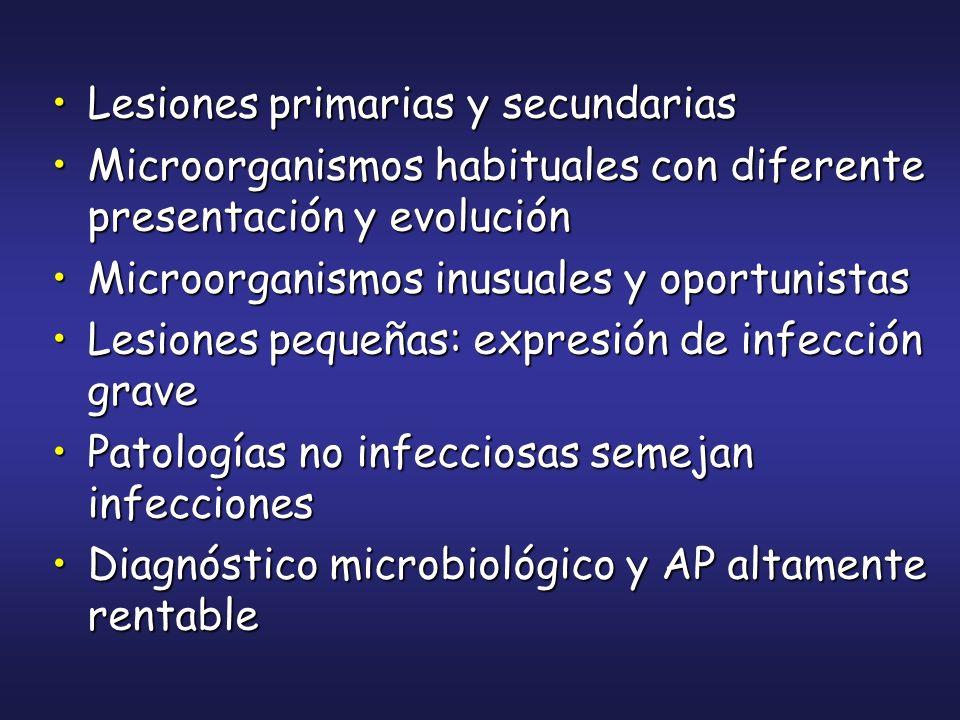 Lesiones primarias y secundarias