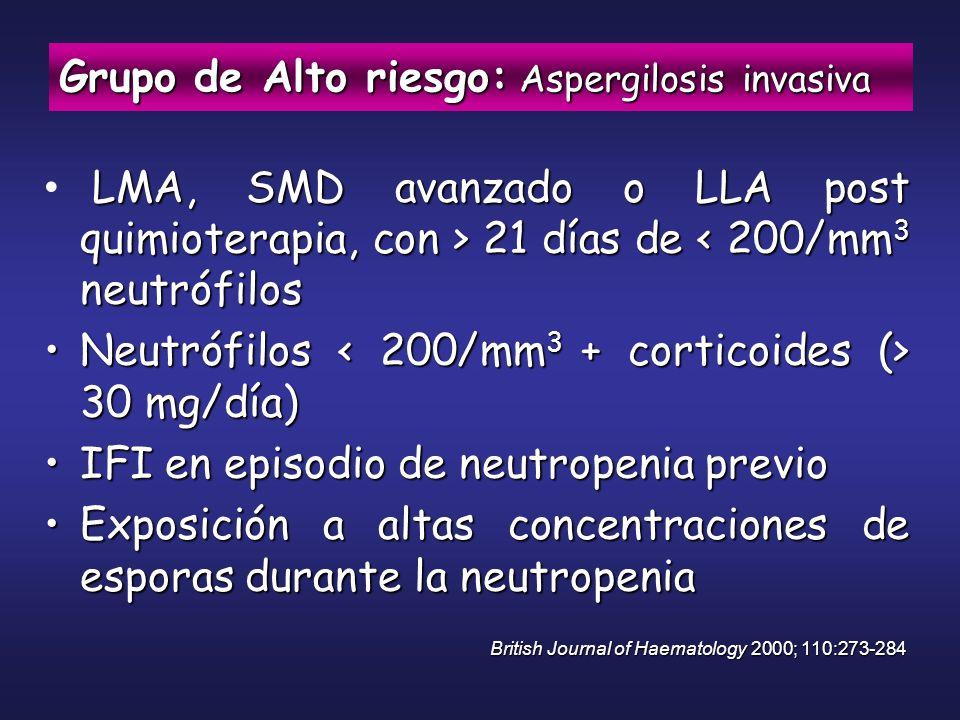 Grupo de Alto riesgo: Aspergilosis invasiva