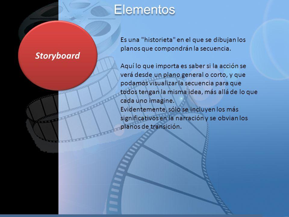 Elementos Storyboard.