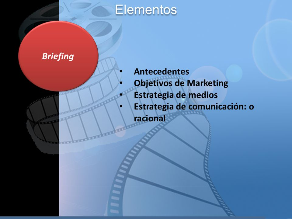 Elementos Briefing Antecedentes Objetivos de Marketing