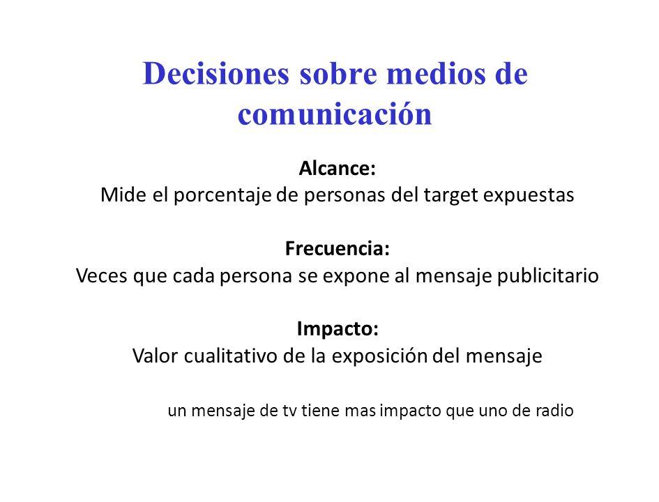 Decisiones sobre medios de comunicación
