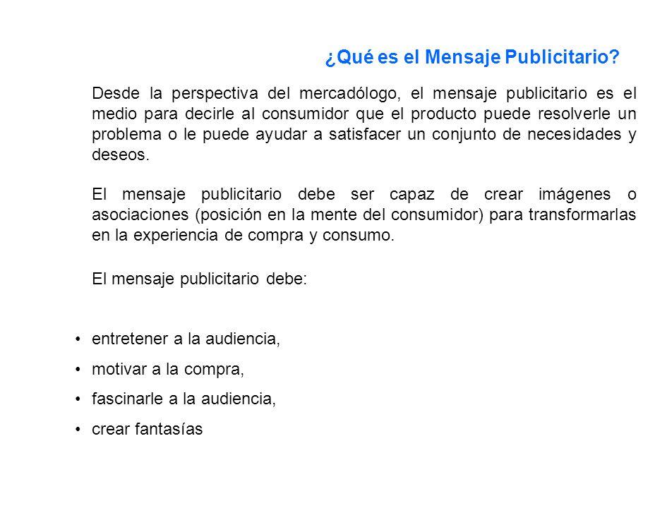 ¿Qué es el Mensaje Publicitario