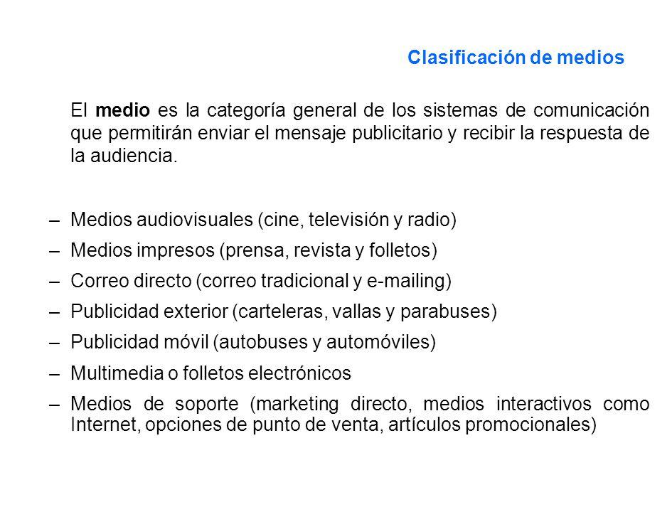 Clasificación de medios