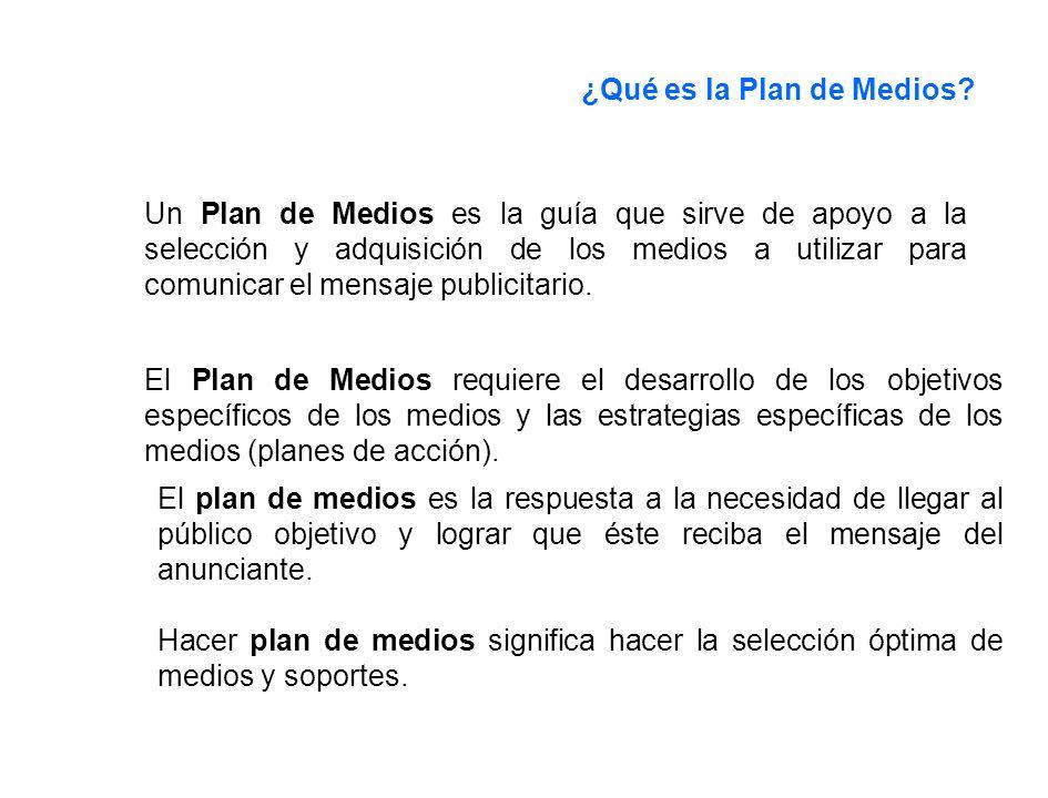 ¿Qué es la Plan de Medios