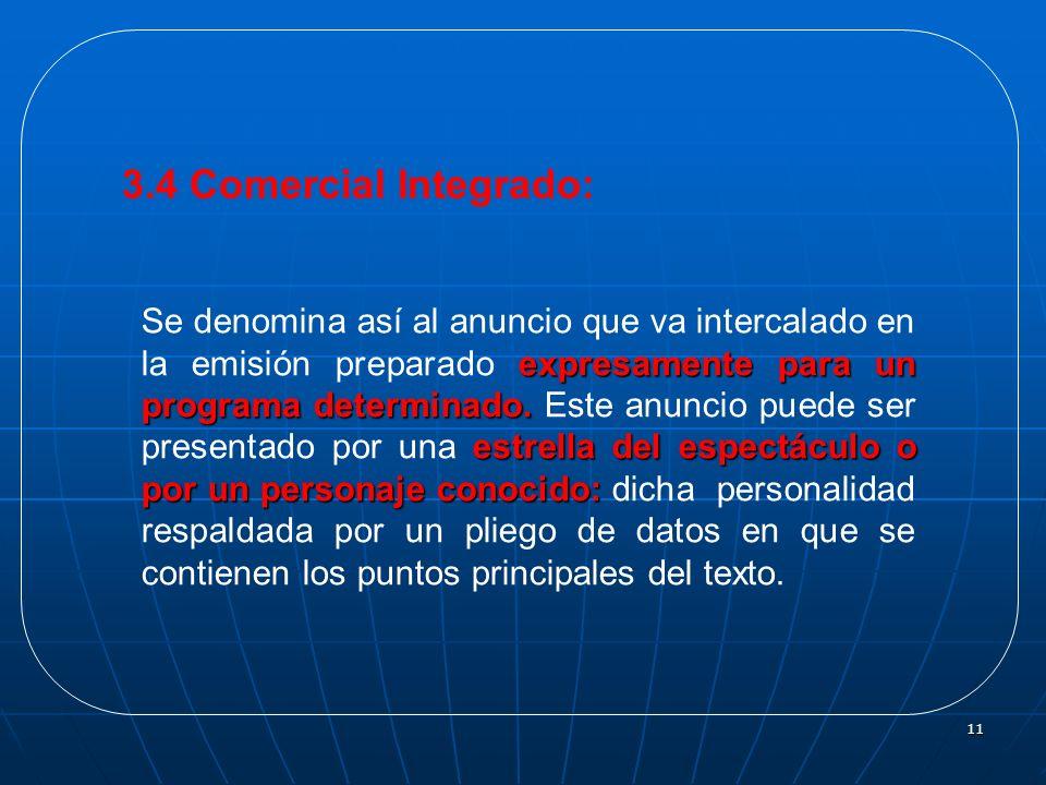 3.4 Comercial Integrado: