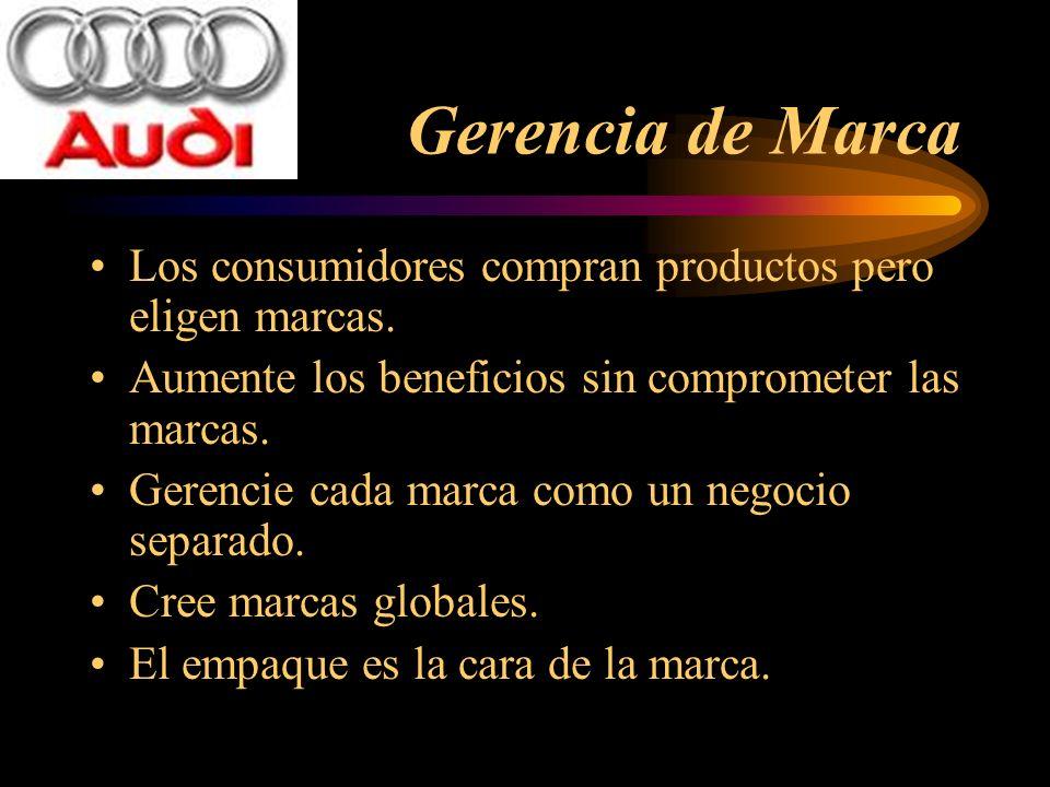 Gerencia de Marca Los consumidores compran productos pero eligen marcas. Aumente los beneficios sin comprometer las marcas.